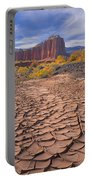 212648-mud Cracks Upper Cathedral Valley  Portable Battery Charger