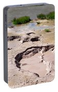 Mud Volcano Area In Yellowstone National Park Portable Battery Charger