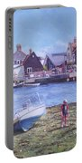 Mudeford Quay Christchurch From Hengistbury Head Portable Battery Charger by Martin Davey