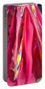 Multi-color Pink Skirt. Ameynra Design Portable Battery Charger