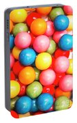 Multi Colored Gumballs. Sweets Background Portable Battery Charger