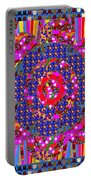 Multi Layered Colorful Flowers Christmas Wreath Style By Navinjoshi At Fineartamerica  Portable Battery Charger