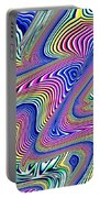 Multicolor Swirls Portable Battery Charger