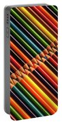 Multicolored Pencils In Rows Portable Battery Charger