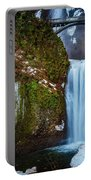 Multnomah Falls With Ice Portable Battery Charger