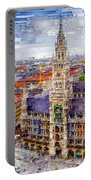 Munich Cityscape Portable Battery Charger
