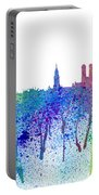 Munich Skyline Silhouette An Impressionistic Splash - Dream Cities Series Portable Battery Charger