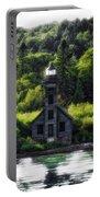 Munising Grand Island Lighthouse Upper Peninsula Michigan Vertical 01 Portable Battery Charger