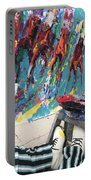 Mural Del Mar Race Track Portable Battery Charger