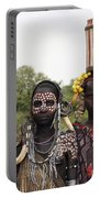Mursi Tribesmen In Ethiopia Portable Battery Charger