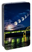 Muscatine Bridge Lunar Eclipse 9-27-15 Portable Battery Charger