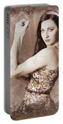Muscle And Strength Pinup Poster Girl Portable Battery Charger
