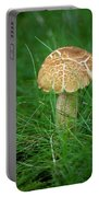 Mushroom In The Grass Portable Battery Charger