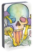 Mushroom Skull Portable Battery Charger