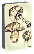 Mushroom Study 4 Portable Battery Charger