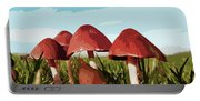 Mushrooms In Autumn Portable Battery Charger