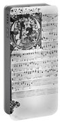 Music Manuscript, 1450 Portable Battery Charger