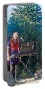 Musical Entertainers In Central Park In Bariloche-argentina Portable Battery Charger