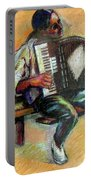 Musician With Accordion Portable Battery Charger