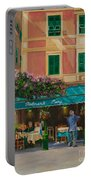 Musicians' Stroll In Portofino Portable Battery Charger by Charlotte Blanchard