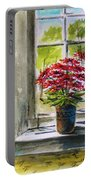 Musing-gerberas At The Window Portable Battery Charger