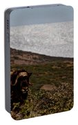 Musk Ox In Front Of Greenlandic Icecap Portable Battery Charger