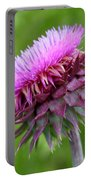 Musk Thistle Blooming Portable Battery Charger