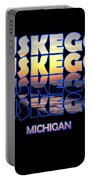 Muskegon Channel Sunset Portable Battery Charger