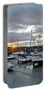 Musselburgh Marina In The Sunset. Portable Battery Charger