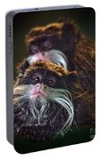 Mustached Monkeys Emperor Tamarins  Portable Battery Charger