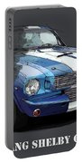 Mustang Shelby Gt-350, Blue And White Classic Car, Gift For Men Portable Battery Charger