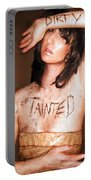 My Invisible Tattoos - Self Portrait Portable Battery Charger by Jaeda DeWalt