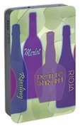 My Kind Of Wine Portable Battery Charger by Tara Hutton