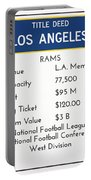 My Nfl Los Angeles Rams Monopoly Card Portable Battery Charger