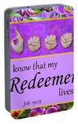 My Redeemer Lives Portable Battery Charger