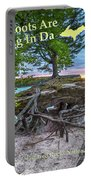 My Roots Are Strong Chapel Rock -6121 Pictured Rocks Michuigan Portable Battery Charger