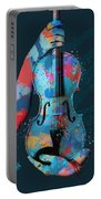My Violin Whispers Music In The Night Portable Battery Charger by Nikki Marie Smith