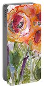 My Wild Roses Portable Battery Charger