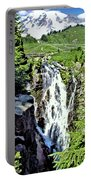 Myrtle Falls And Mount Rainier Portable Battery Charger