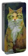Mysterious Cat Portable Battery Charger