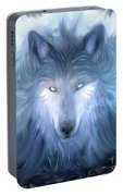 Mysterious Wolf Hand Painted Portable Battery Charger
