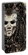 Mystic Future And Past - Ion Prophecies - Monotone  Portable Battery Charger