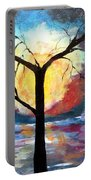 Mystical Twilight Forest Portable Battery Charger