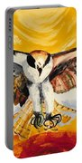 Mythical Eagle Perching Oil Painting Portable Battery Charger