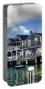 Nantucket Harbor In Summer Portable Battery Charger by Tammy Wetzel