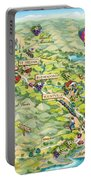 Napa Valley Illustrated Map Portable Battery Charger