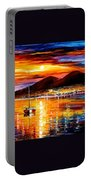 Naples - Sunset Above Vesuvius Portable Battery Charger