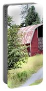 Naples Red Barn  Portable Battery Charger
