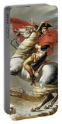 Napoleon Crossing The Alps, Jacques Louis David, From The Original Version Of This Painting  Portable Battery Charger