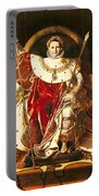 Napoleon I On The Imperial Throne Portable Battery Charger